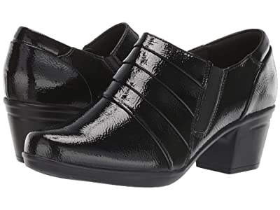 Clarks Emslie Guide (Black Synthetic Crinkle Patent) Women