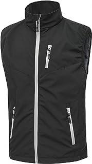 Heihuohua Men's Lightweight Softshell Vest, Windproof Jacket for Cycling Hiking Running Golf
