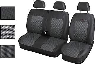 Für Reanault TRAFIC bis 2014 paßgenaue Sitzbezüge im Design VIP-1 schwarz.