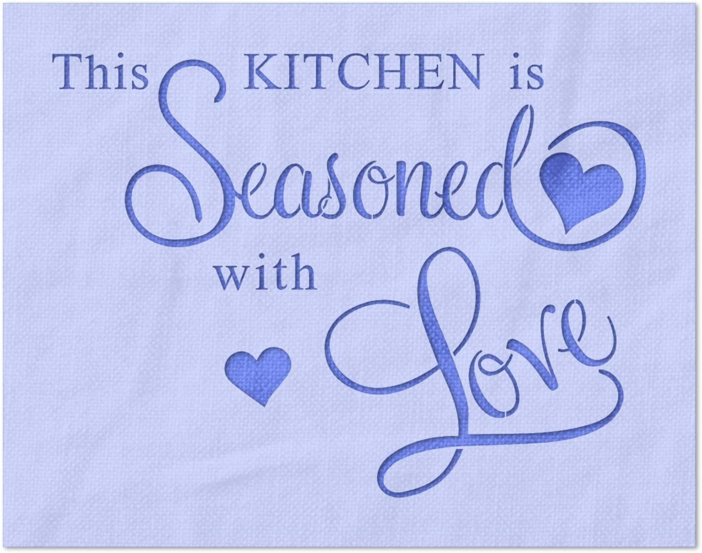 Stencil Stop The Kitchen is with - Bargain Love Seasoned Boston Mall Reusabl