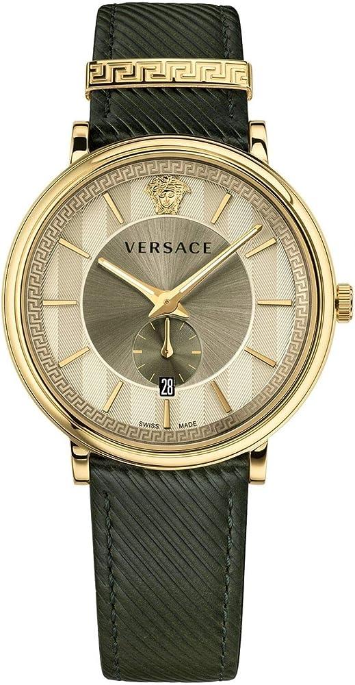 Versace v-circle orologio donna cassa in oro giallo da 38 mm; VBP130017 VBQ030017