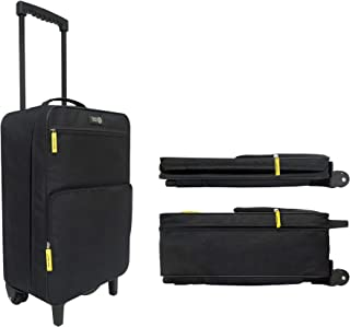 Travel Ready Softside Collapsible Carry On Cabin Luggage Suitcase with 2wheel & 4wheel