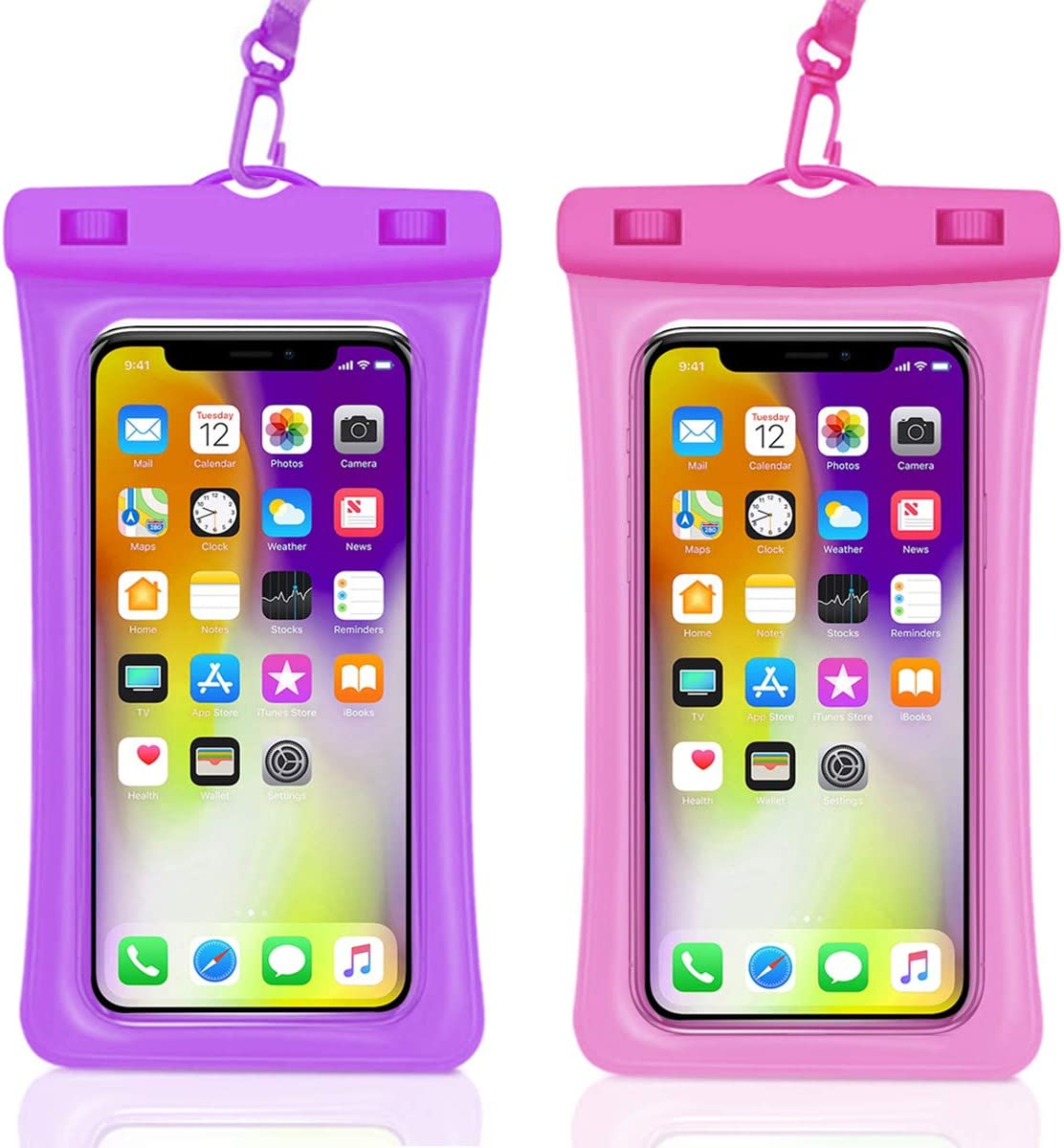 Universal Waterproof Case,Waterproof Phone Pouch for iPhone 11 Pro Max XS Max XR X 8 7 6S Plus Samsung Galaxy s10/s9 Google Pixel 2 HTC Up to 7.0
