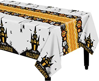 Dazonge Halloween Haunted House Tablecloth | 54''x110'' Rectangular | 2 Pack Halloween Table Covers for Party Decorations ...