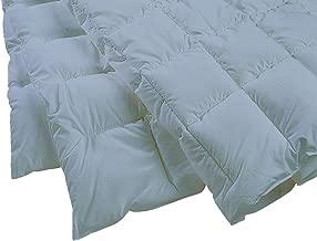 """Dust Mite- and Allergen-Proof Lightweight Comforter; """"Premium Microfiber"""" (Queen; Blue/Gray)"""