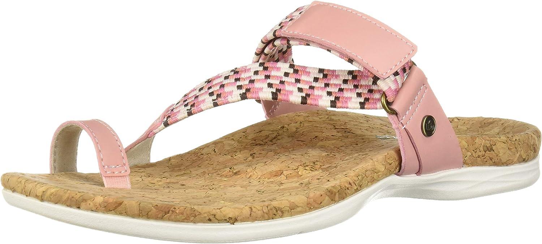 Spenco Women's Island Slide Sandal, Coral Cloud, 10 Medium US