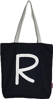 Hello-Bags N-003-R Bolso Tote. Algodón 100% Negro con Cremallera, Forro y Bolsillo Interior 37 * 38 cm + (asa: 28 cm) Incl...