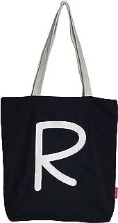 Hello-Bags N-003-R Bolso Tote. Algodón 100% Negro con Cremallera, Forro y Bolsillo Interior 37 * 38 cm + (asa: 28 cm) Incluye sobre Kraft de Regalo