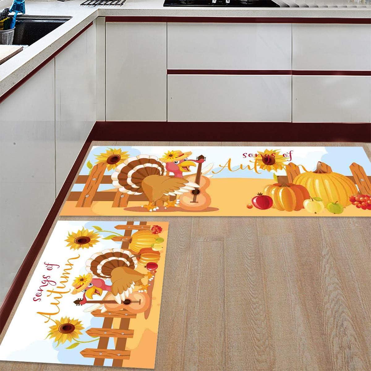 Branded goods Womenfocus Kitchen Mat Set sold out Anti-WearNon-Slip 2 Pi Rug Floor