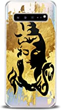 Cavka TPU Phone Case for Samsung Galaxy A80 A70 A60 A50 A40 A30 A20e A10 Golden Shiva Soft Black Graphic Gift Hindu God Art Slim fit Lux Print Smooth Inspire Design Flexible India Lightweight Clear