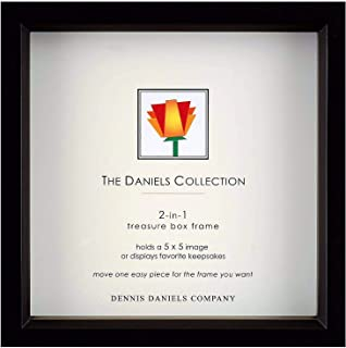 Ebony-Black stain 5x5 shadow box for print or collectibles by Dennis Daniels - 5x5