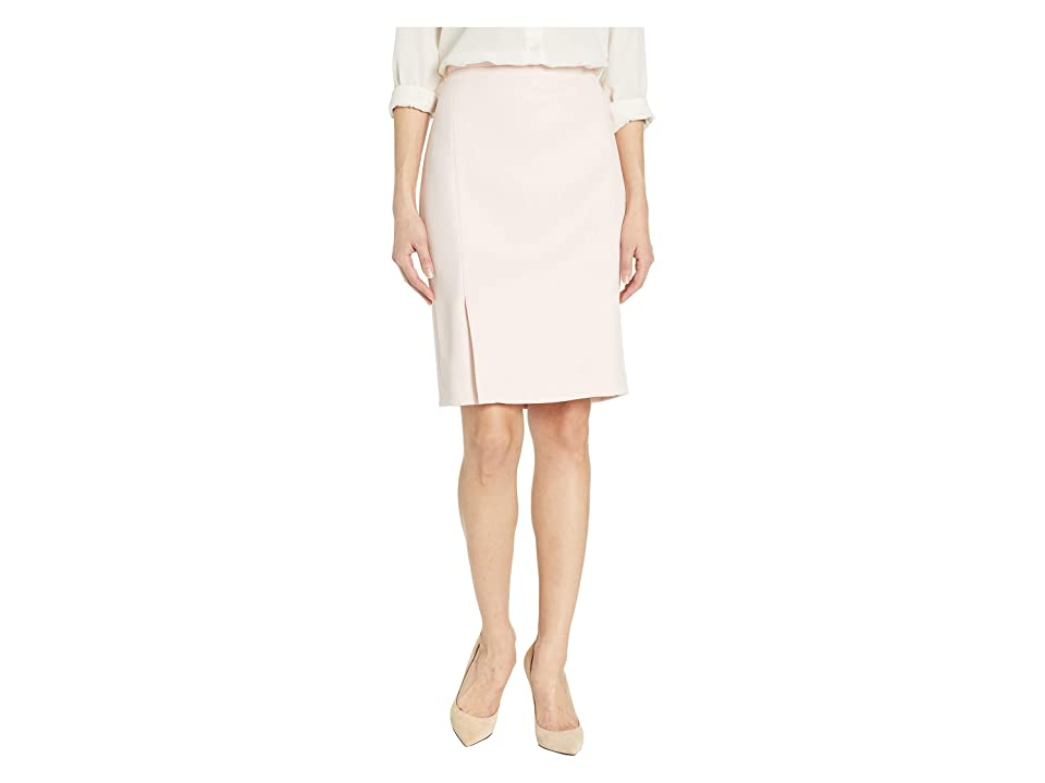 Calvin Klein Twill Pleated Skirt (Rose/White) Women