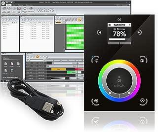 STICK DE3 Plus Black BD Sunlite DMX Wall Mount Lighting Interface Controller by Nicolaudie
