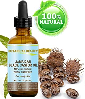 BLACK CASTOR OIL JAMAICAN. 100% Pure / Natural / Virgin / Unrefined Cold Pressed Carrier oil. 1 Fl.oz.- 30 ml. For Skin, Hair, Eyelashes, Brows and Nail Care.