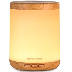 InnoGear 150ml Essential Oil Diffuser, Ultrasonic Aromatherapy Diffusers Cool Mist Humidifier with Colorful Mood Lights Waterless Auto Off for Home Office Baby Room, Yellow