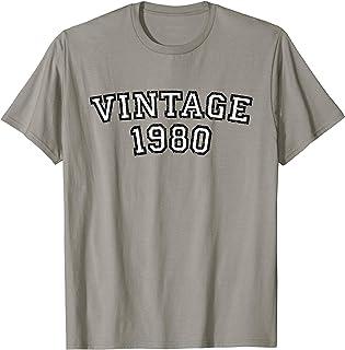 Vintage 1980 (Schwarz-Weiß) 40. Geburtstag Geschenk T-Shirt