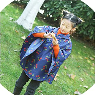 Korean Style Cherry Pattern Children Raincoat Thickening Boys and Girls Raincoat Poncho for Travel and Hiking