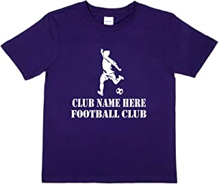 Print4u Football Club Name Here Personalised Kids T-Shirt