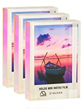 WINKINE Instax Frame Small Picture Display 2x3, 3 Pack Rainbow Self Standing Floating Instax Multi Picture Frame for Home & Office Decor, Table Desktop Sliding Photo Frame for Fujifilm & Polaroid