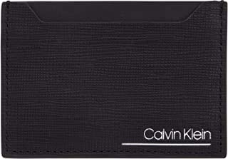 Calvin Klein SliveRed Simple Card Case Wallet, Black, 11 cm, K50K505168