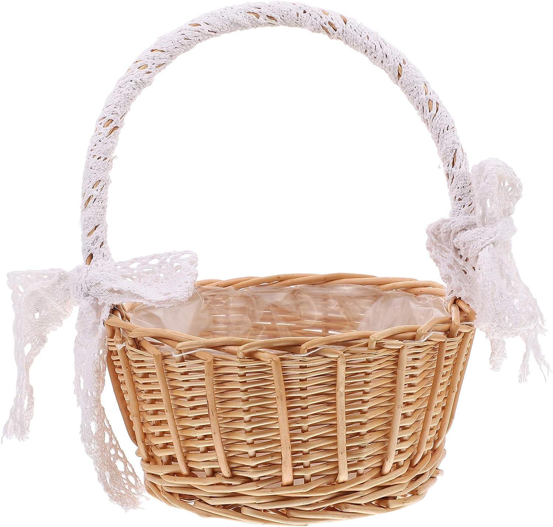 Cabilock Flower Girl Baskets 2021 new Mail order Wicker Basket P Willow Woven