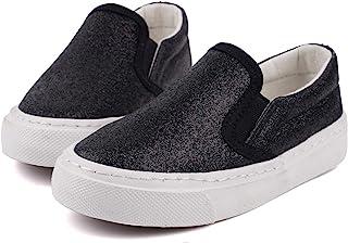 Low Top Slip On Glitter Canvas Sneakers for Little Kids