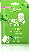 Alba Botanica Fast Fix Sheet Mask, Papaya Anti-Acne, Pack of 8