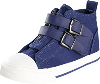 Alexis Leroy Kid's Stylish High Top Zipper Buckles Canvas Sneakers