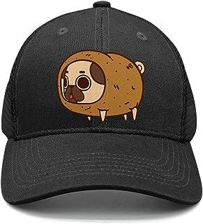 9860cecf4b8 jioeskj Pug Dog Cosplay Potato Mens Trucker Flat Baseball Cotton All Cotton  Mesh