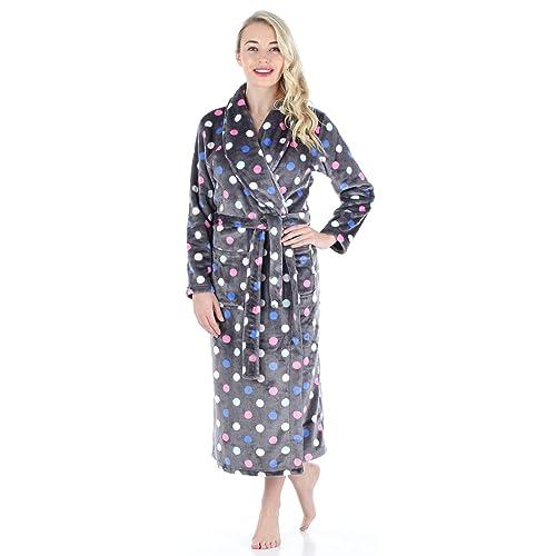 5dbd8076c1 PajamaMania Women s Sleepwear Fleece Long Robe