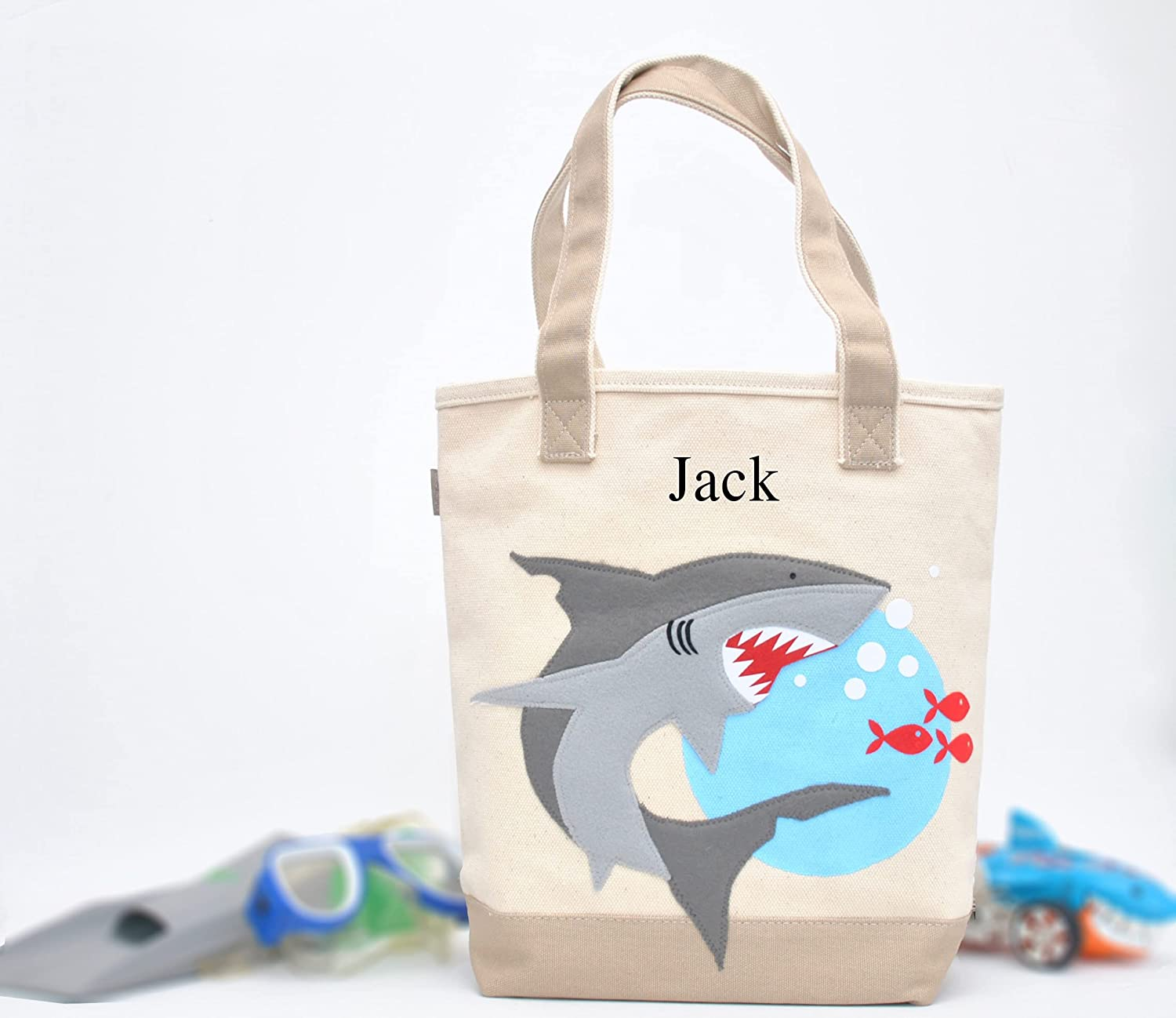 Cheap mail order specialty store Shark Tote Personalized Library bag At the price of surprise tote toddler Presch Boys