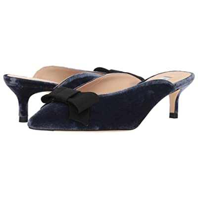 L.K. Bennett Seren (Powder Blue/Black Velvet/Grosgrain) Women