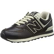 Mens Black/White 574 Sneakers