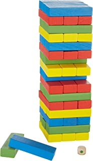 Real Wood Games Color Wooden Tower Game
