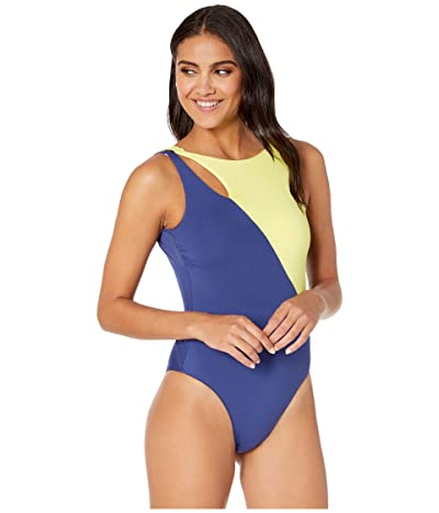 Seafolly In the Loop Spliced High Neck Maillot One-Piece Swimsuit (Blue Opal) Women