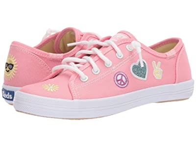 Keds Kids Kickstart Seasonal (Little Kid/Big Kid) (Message Pink Patch) Girl