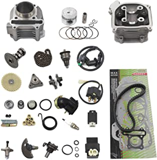GY6 Cylinder Rebuild Kits Trkimal 47mm 80cc Big Bore Upgrade Kits for 49cc 50cc 139QMB Engines 64mm Valve scooter moped parts, GY6 Engine parts