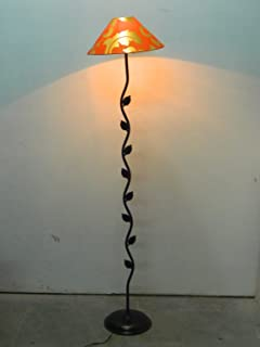 "Leaf Floor LAMP with 13"" Printed Shade"