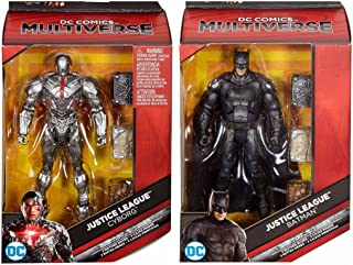 DC Comics Multiverse Justice League Movie Batman and Cyborg Exclusive Action Figure 6 Inches Bundle Set