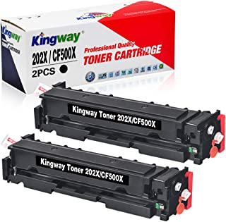 Kingway Compatible HP 202X 202A Toner Cartridges Upgraded Replacement for HP CF500X CF500A High Yield, for HP Laserjet Pro...