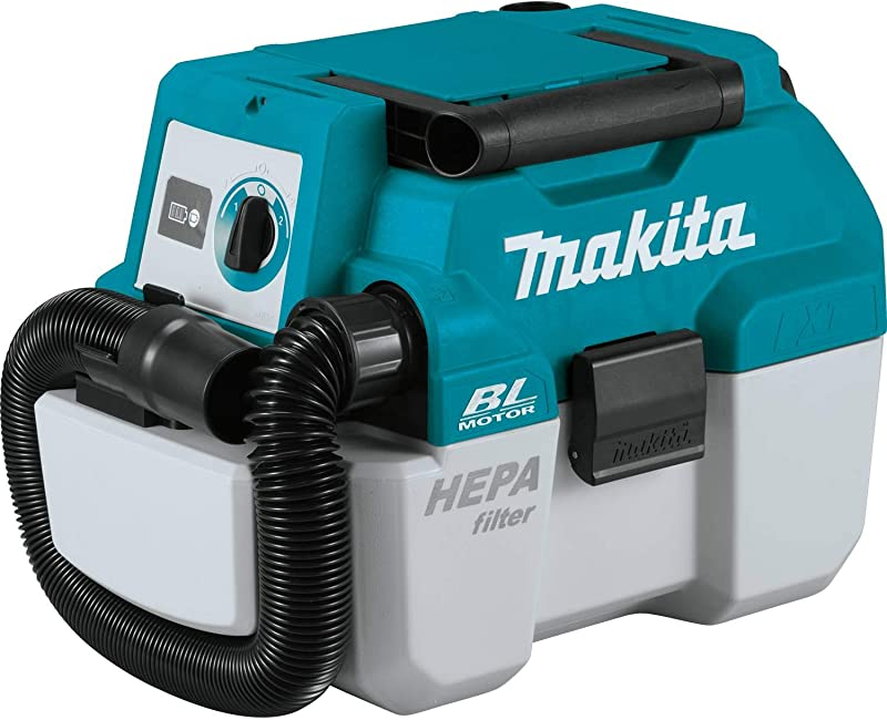 Makita XCV11Z 18V LXT Lithium Ion Brushless Cordless 2 Gallon HEPA Filter Portable Wet Dry Dust Extractor Vacuum Tool Only