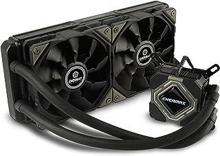 Enermax Liqmax II 240 - Ventilador CPU con refrigeración líquida (16-35 dBA, 163.1 m3/h, 500-2000 RPM), Color Negro