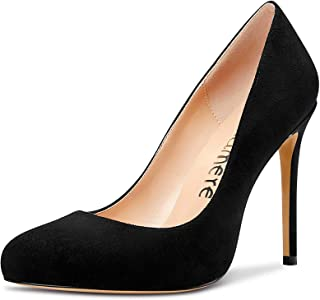 Castamere Scarpe col Tacco Donna Moda Punta Arrotondata Tacco a Spillo 10CM High Heels