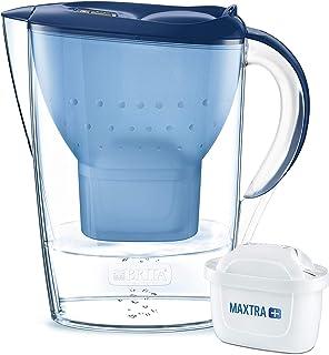 BRITA Marella azul – Jarra de Agua Filtrada con 1 cartucho MAXTRA+ Filtro de agua BRITA que reduce la cal y el cloro Agu...