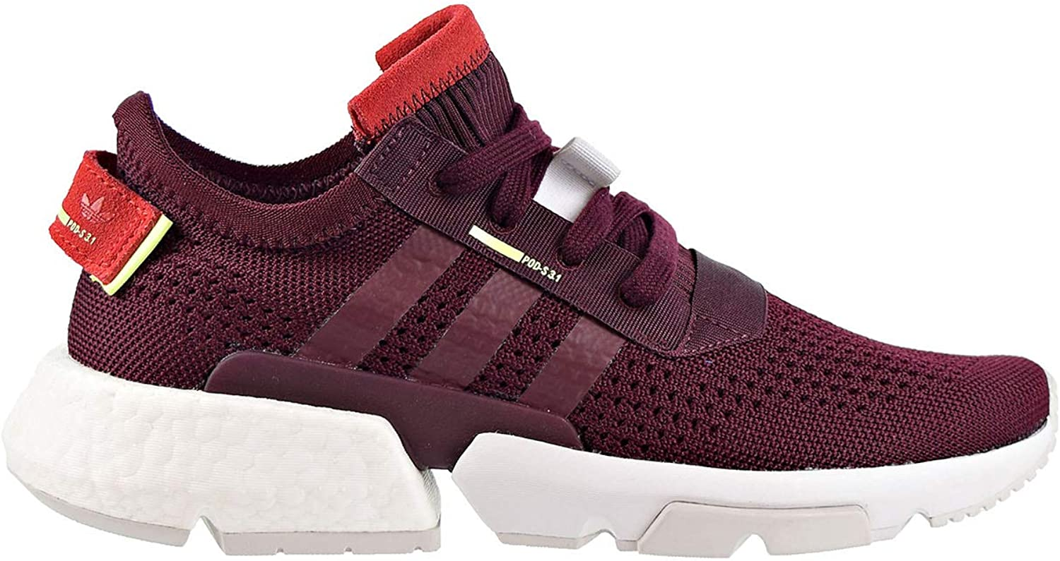 Adidas Women's POD-S3.1 Maroon Hi-Res Yellow DB3541