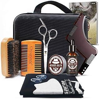 Oxsaytee Beard Grooming Kit, Beard Care Set with Beard Oil, Beard Balm, Beard Brush, Beard Comb, Beard Bib, Beard Shaping ...