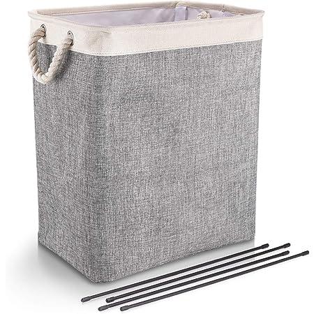 Big Japanese Pastoral Cotton and Linen Waterproof Laundry Bag Basket