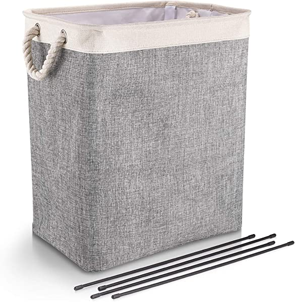 DYD Laundry Basket With Handles Linen Hampers For Laundry Storage Baskets Built In Lining With Detachable Brackets Well Holding Upgrade Foldable Laundry Hamper For Toys Clothing Organization