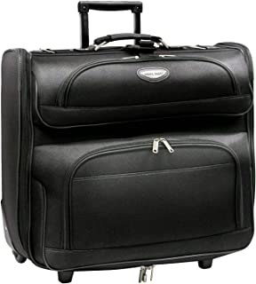 Amsterdam Business Rolling Garment Bag with Protective Foam, Black