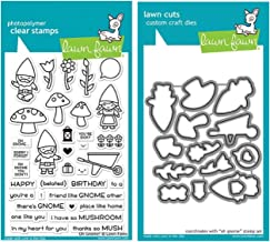 Lawn Fawn Oh Gnome! Clear Stamp Set and Matching Lawn Cuts Die Set (LF1880, LF1881)..